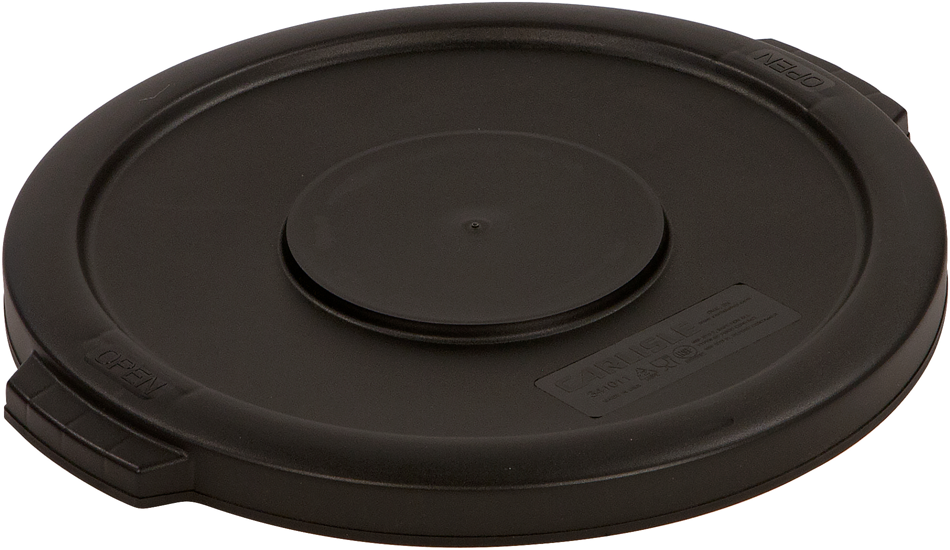 Bronco Round Waste Bin Food Container Lid 10 Gallon - Black