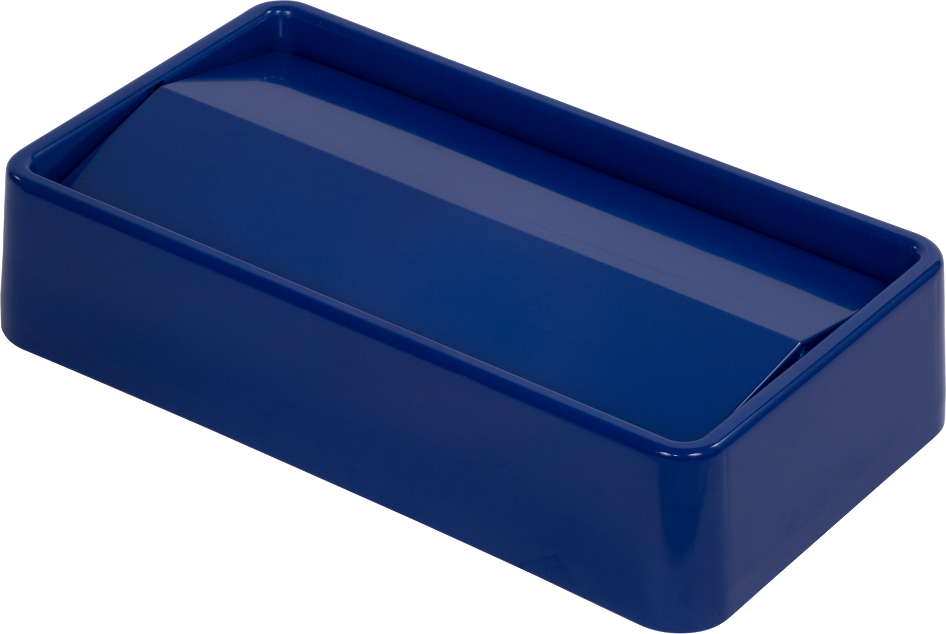 TrimLine Rectangle Swing Top Waste Container Trash Can Lid 15 and 23 Gallon - Blue