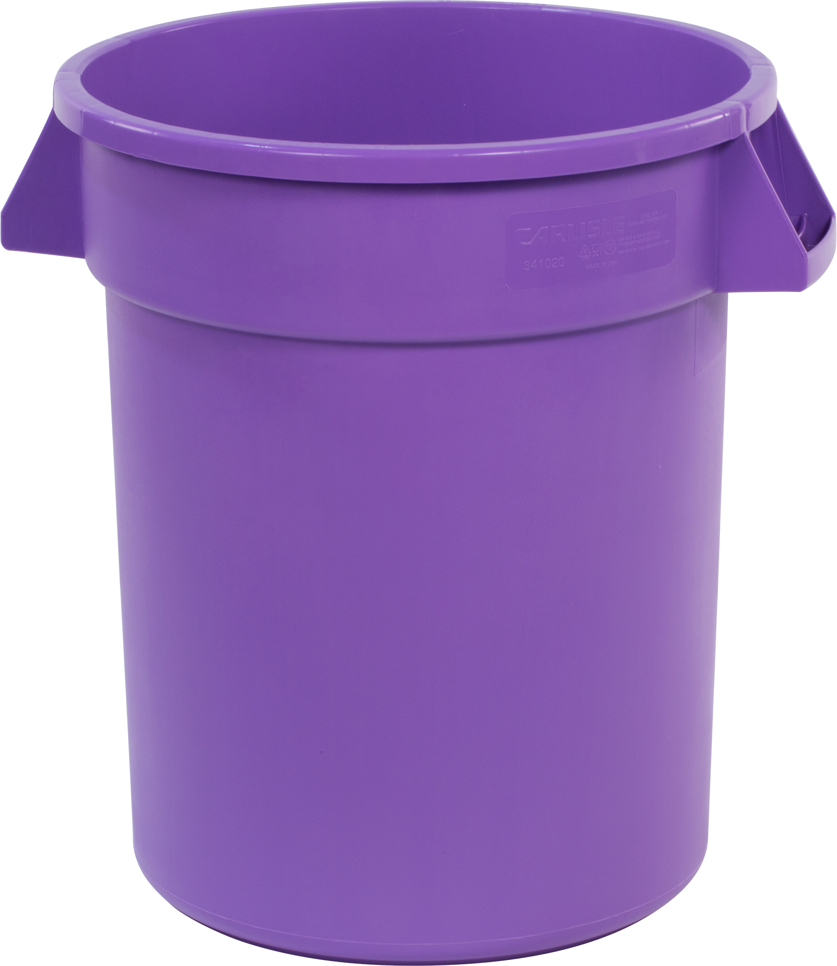 Bronco Round Waste Bin Food Container 20 Gallon - Purple