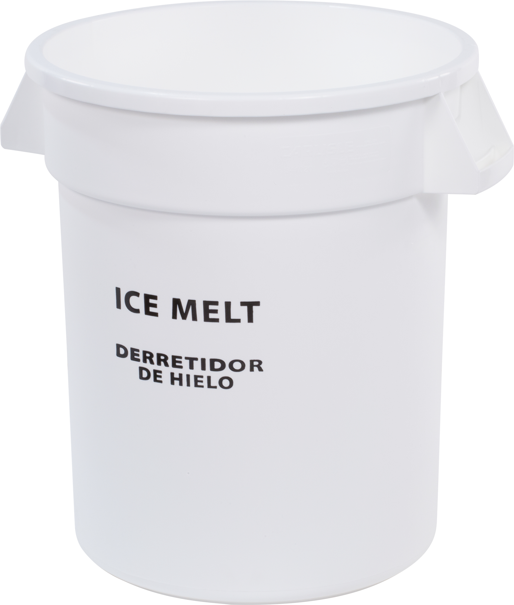 Bronco Round ICE MELT Container 10 Gallon - Ice Melt - White