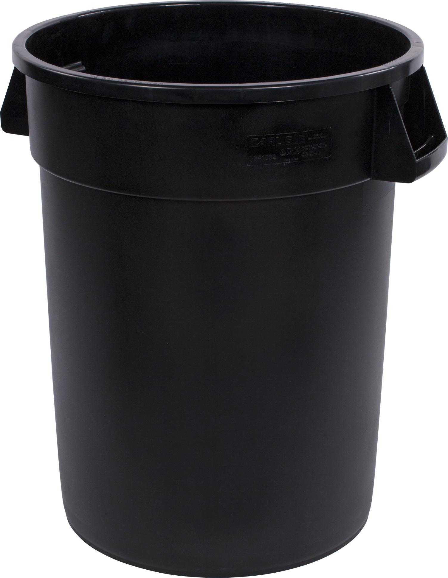 Bronco Round Waste Bin Trash Container 32 Gallon - Black