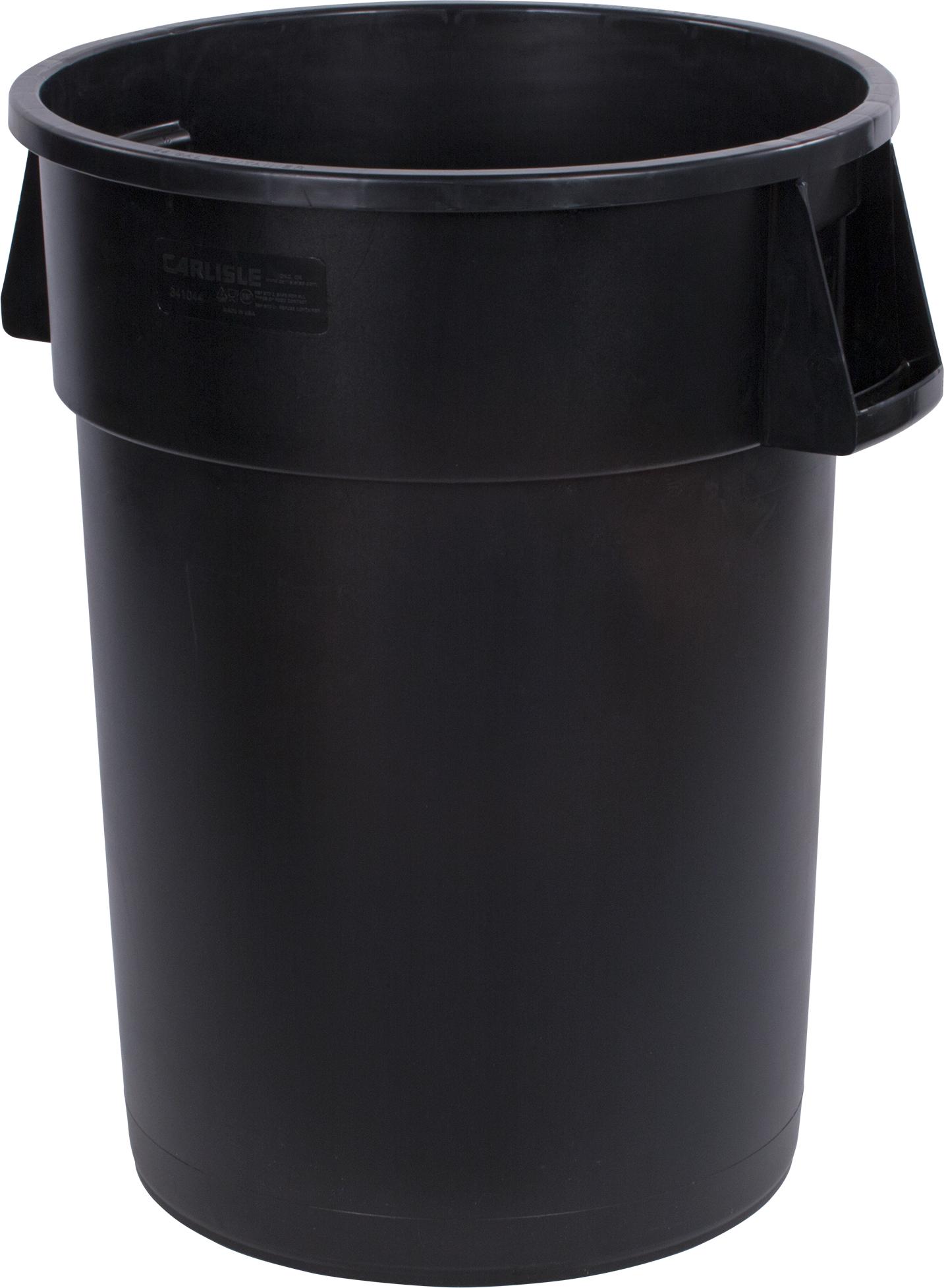 Bronco Round Waste Bin Trash Container 44 Gallon - Black