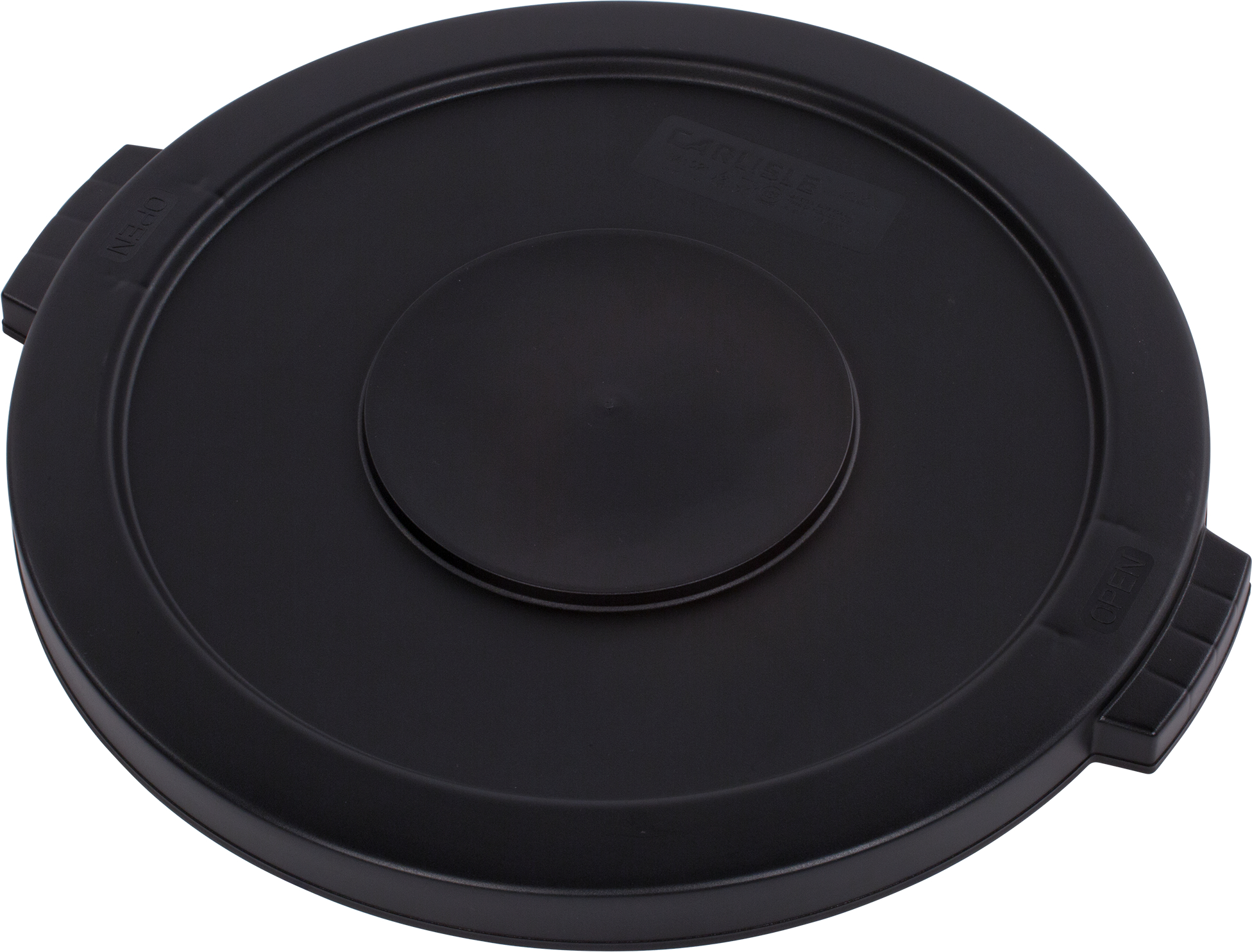 Bronco Round Waste Bin Food Container Lid 20 Gallon - Black