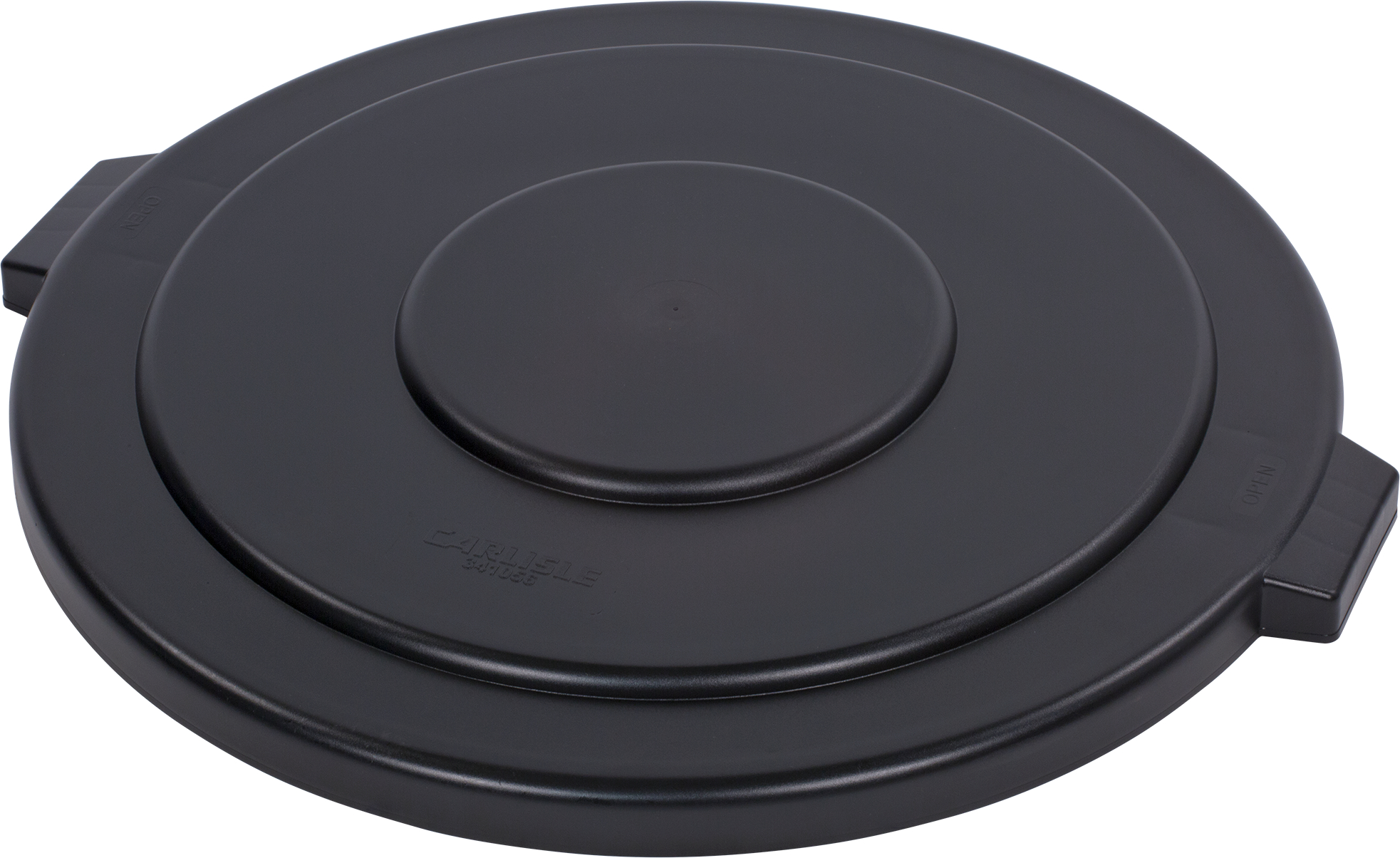 Bronco Round Waste Bin Trash Container Lid 55 Gallon - Black