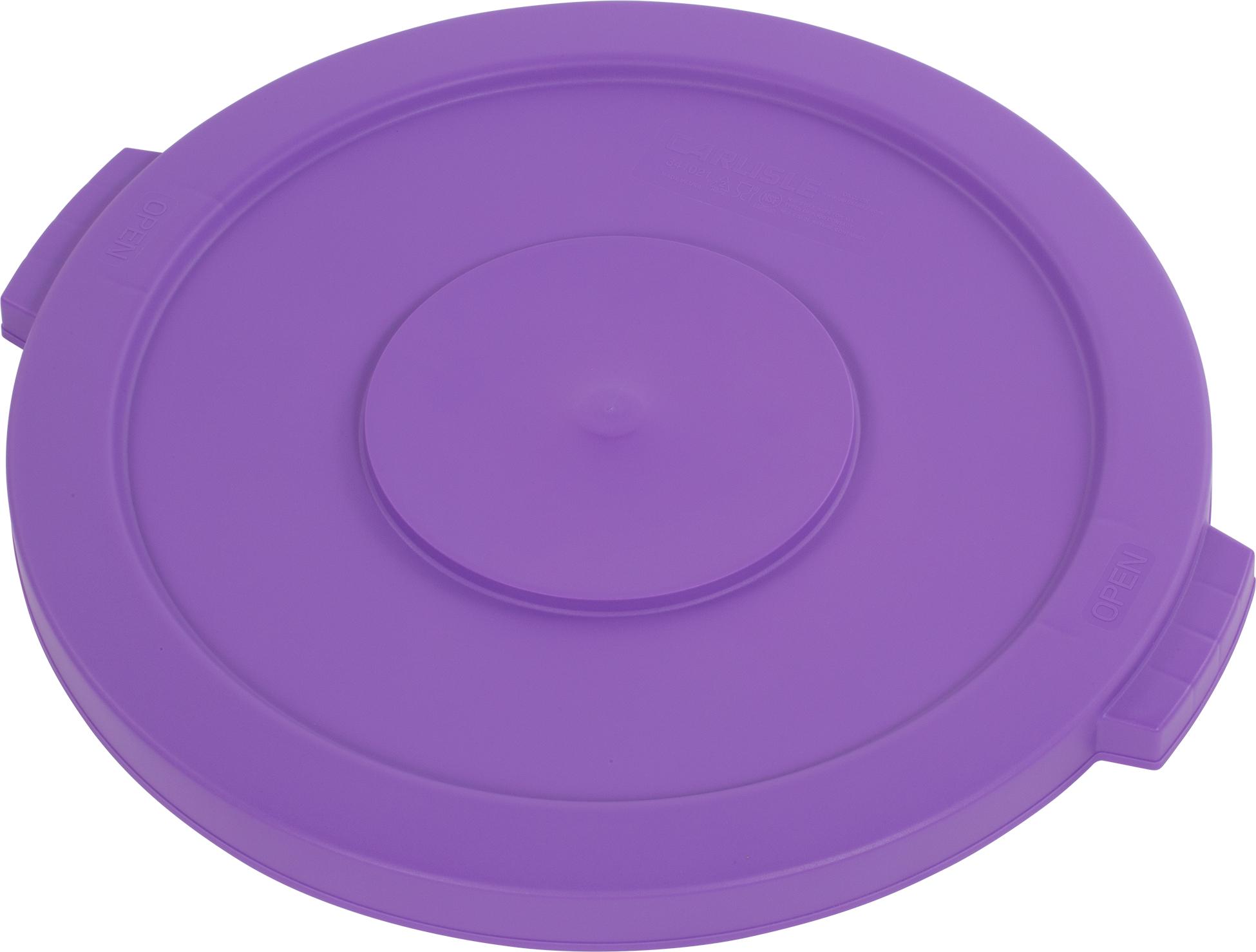 Bronco Round Waste Bin Food Container Lid 20 Gallon - Purple