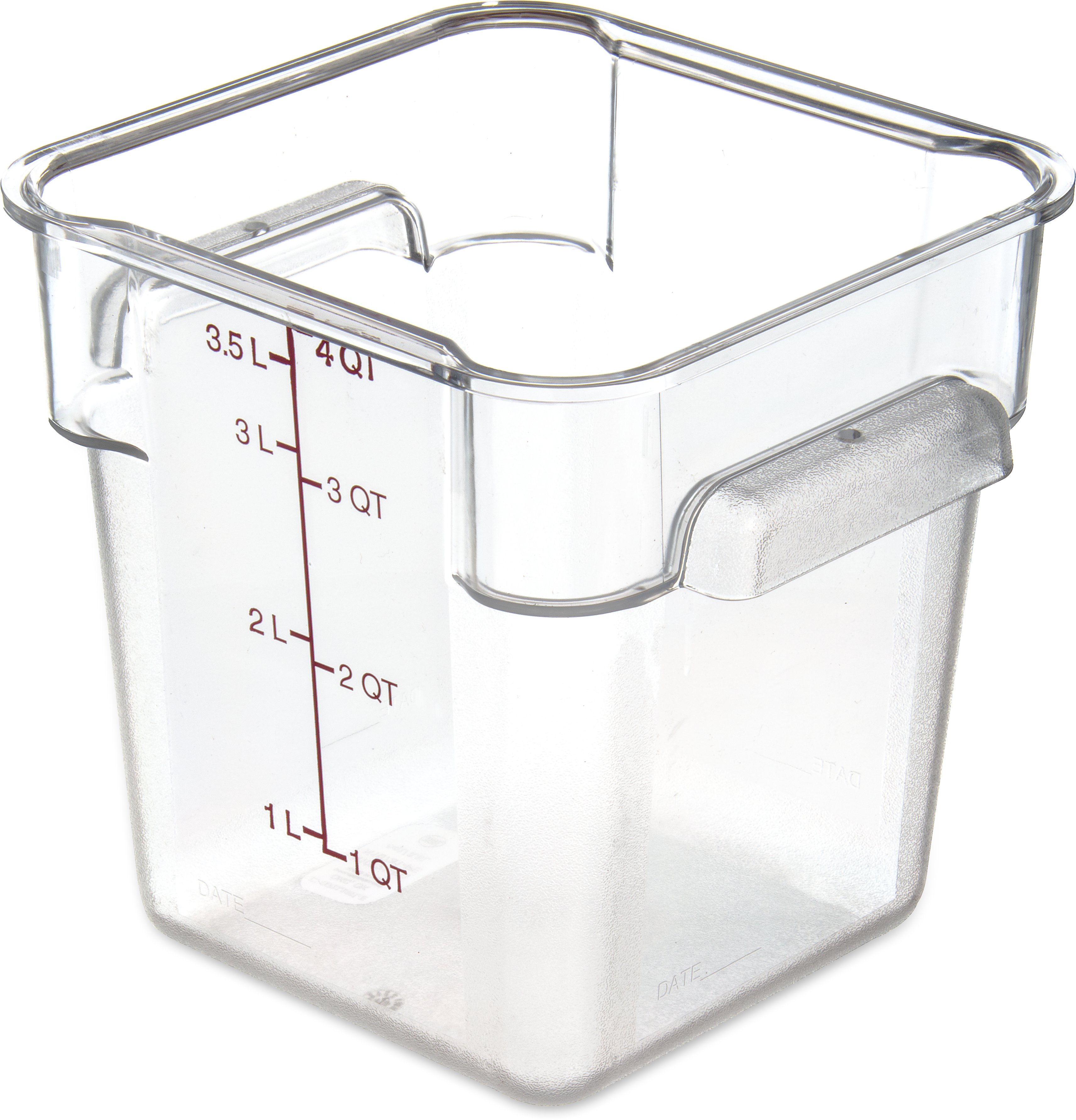 StorPlus Polycarbonate Square Food Square Container 4 qt - Purple