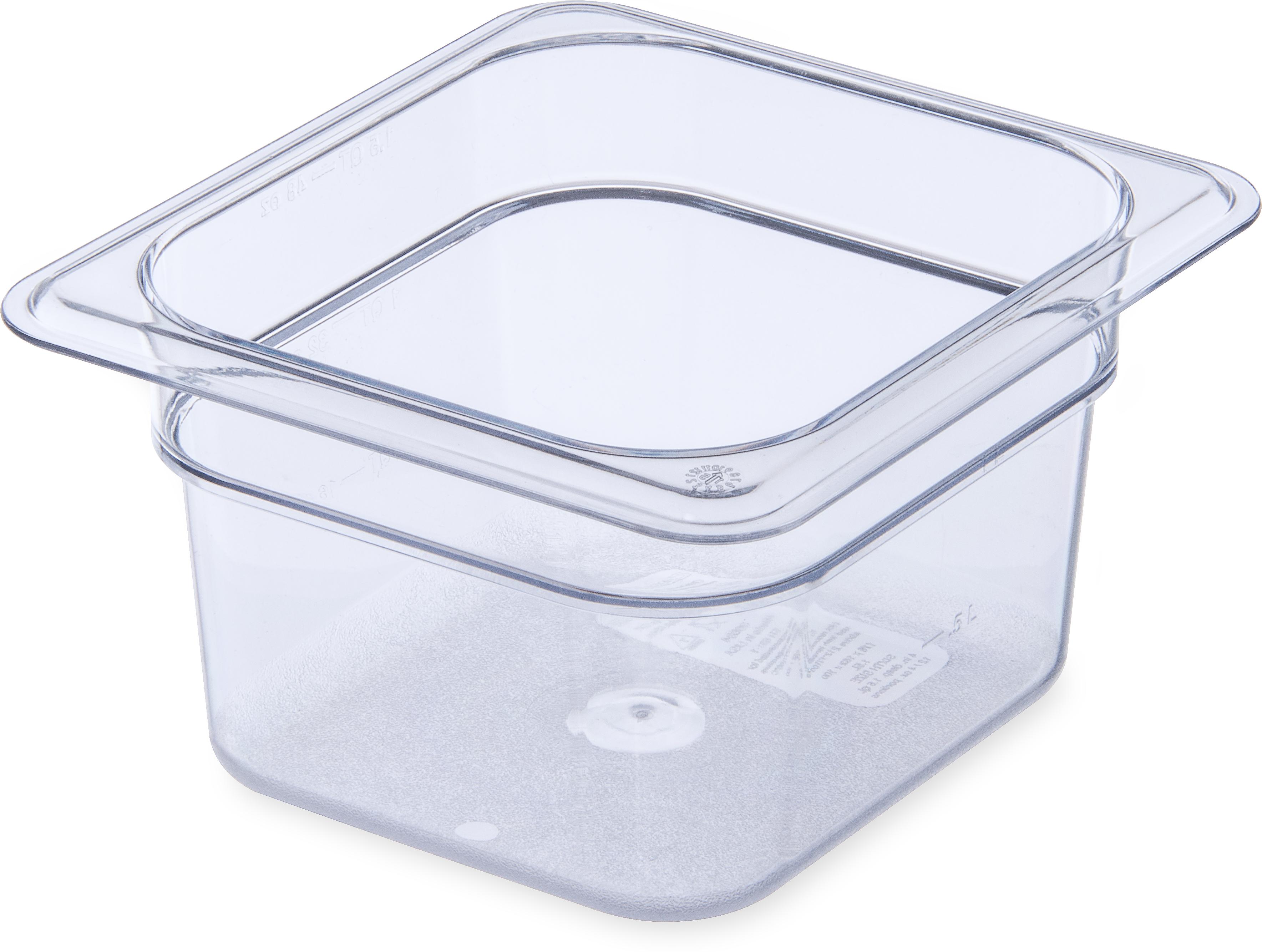 StorPlus Food Pan PC 4 DP 1/6 Size - Clear