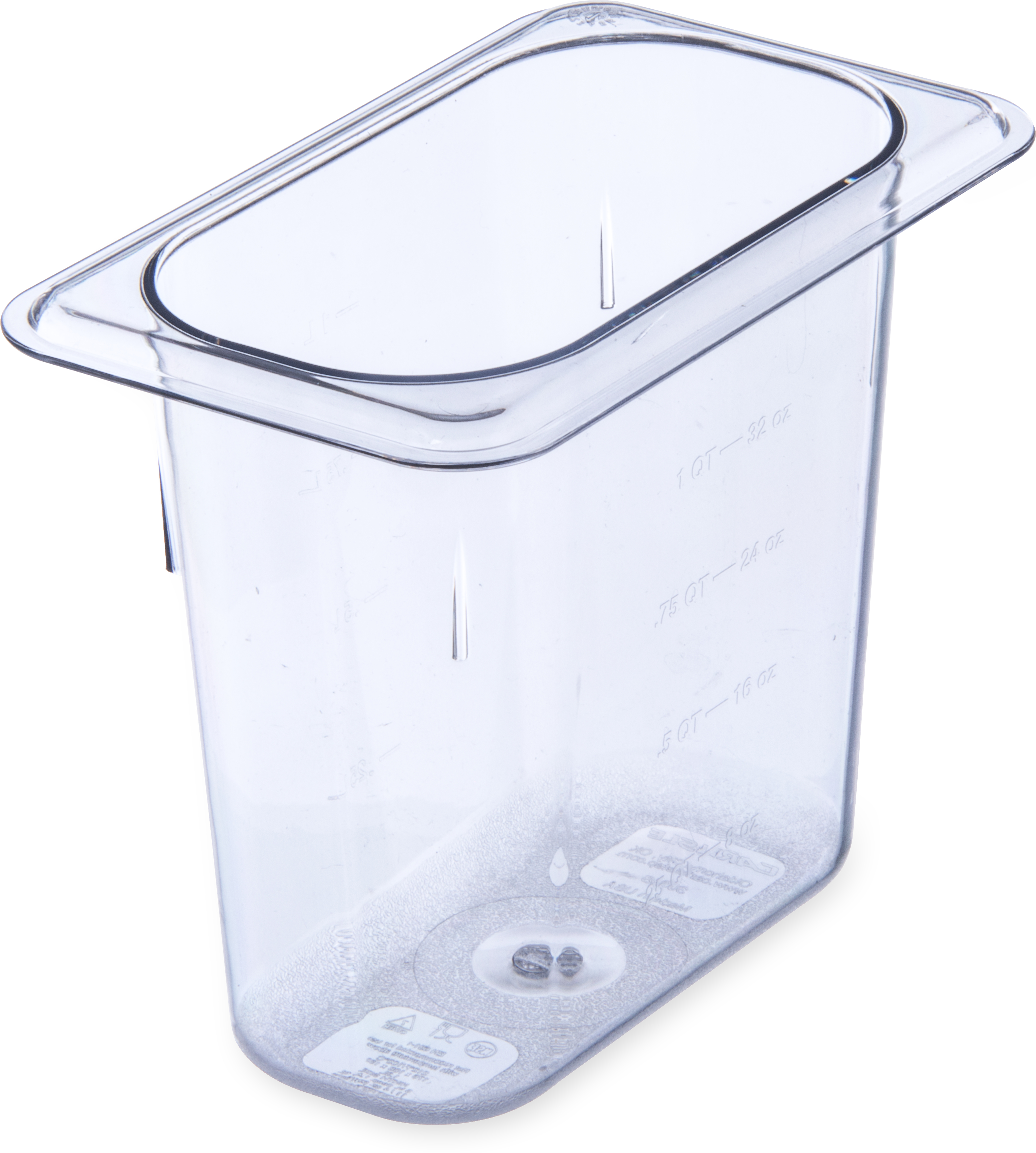 StorPlus Food Pan PC 6 DP 1/9 Size - Clear