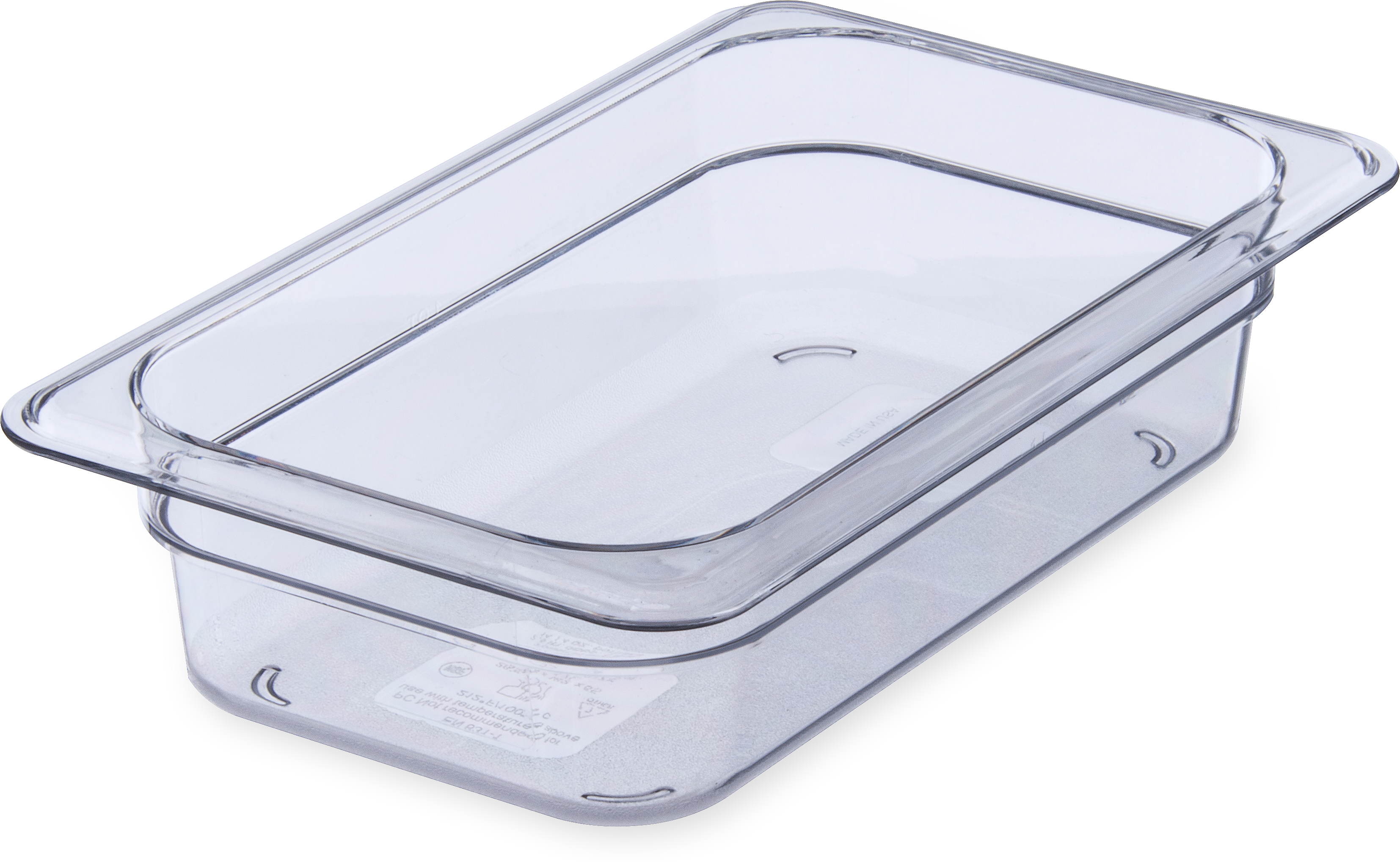 StorPlus Food Pan PC 2.5 DP 1/4 Size - Clear