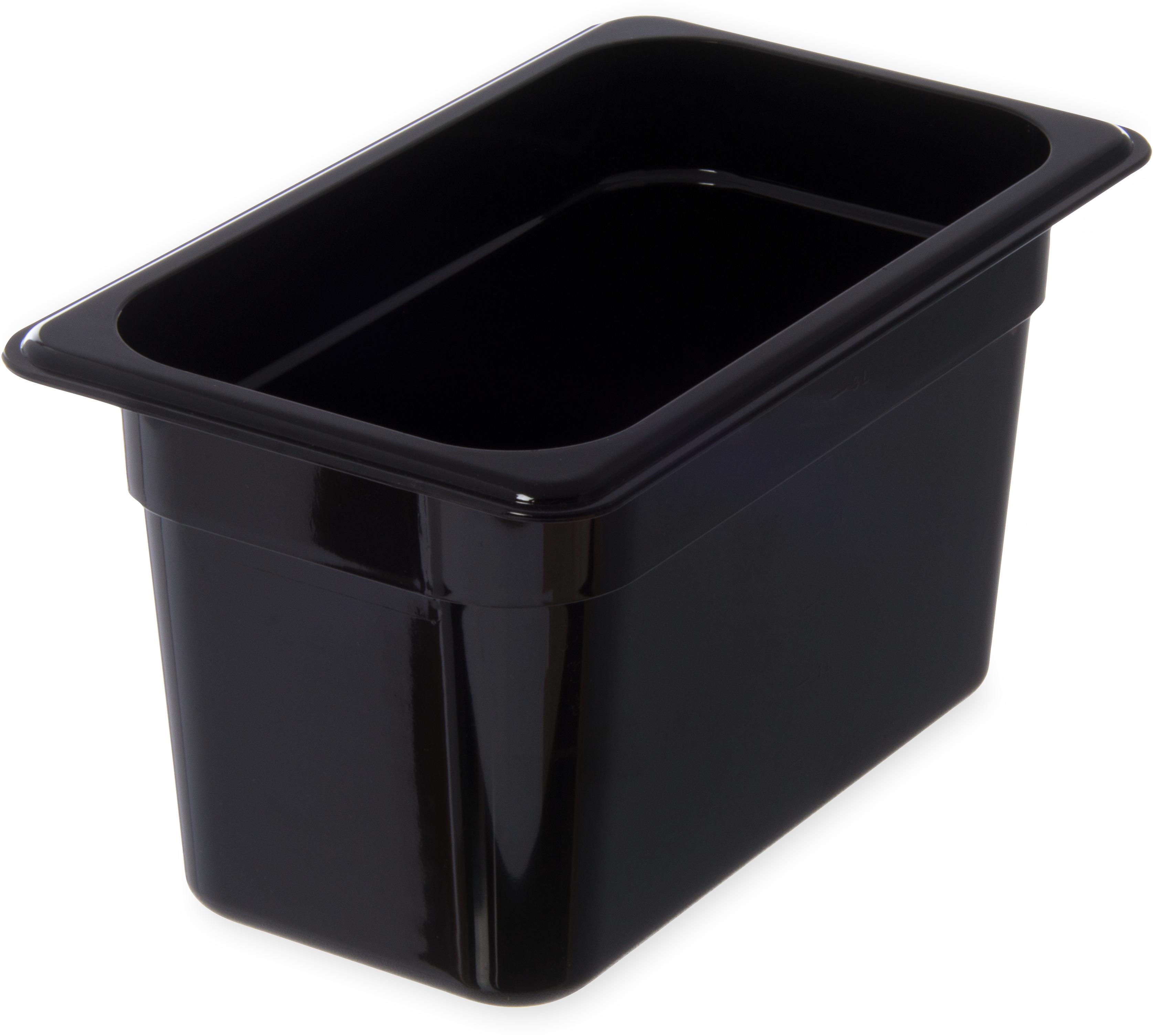 StorPlus Food Pan PC 6 DP 1/4 Size - Black