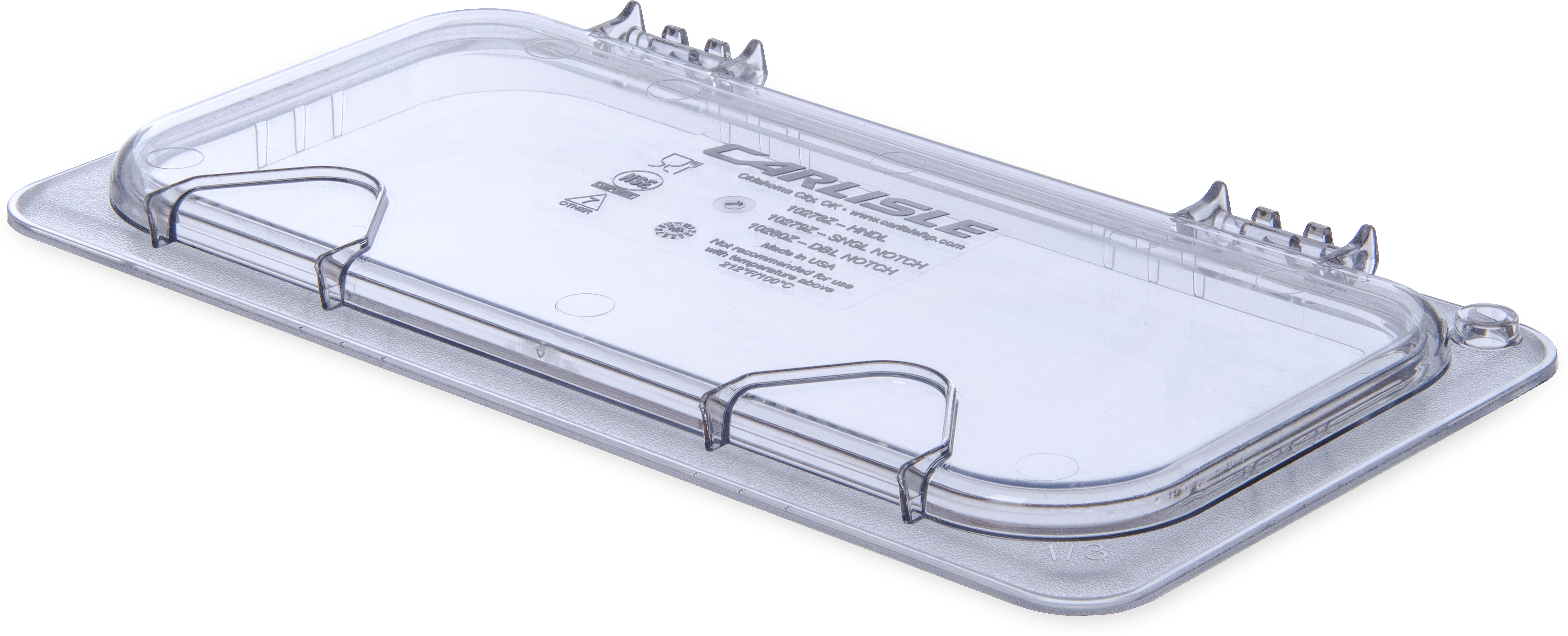 StorPlus EZ Access Hinged Univ Lid with Handle 1/3 Size - Clear