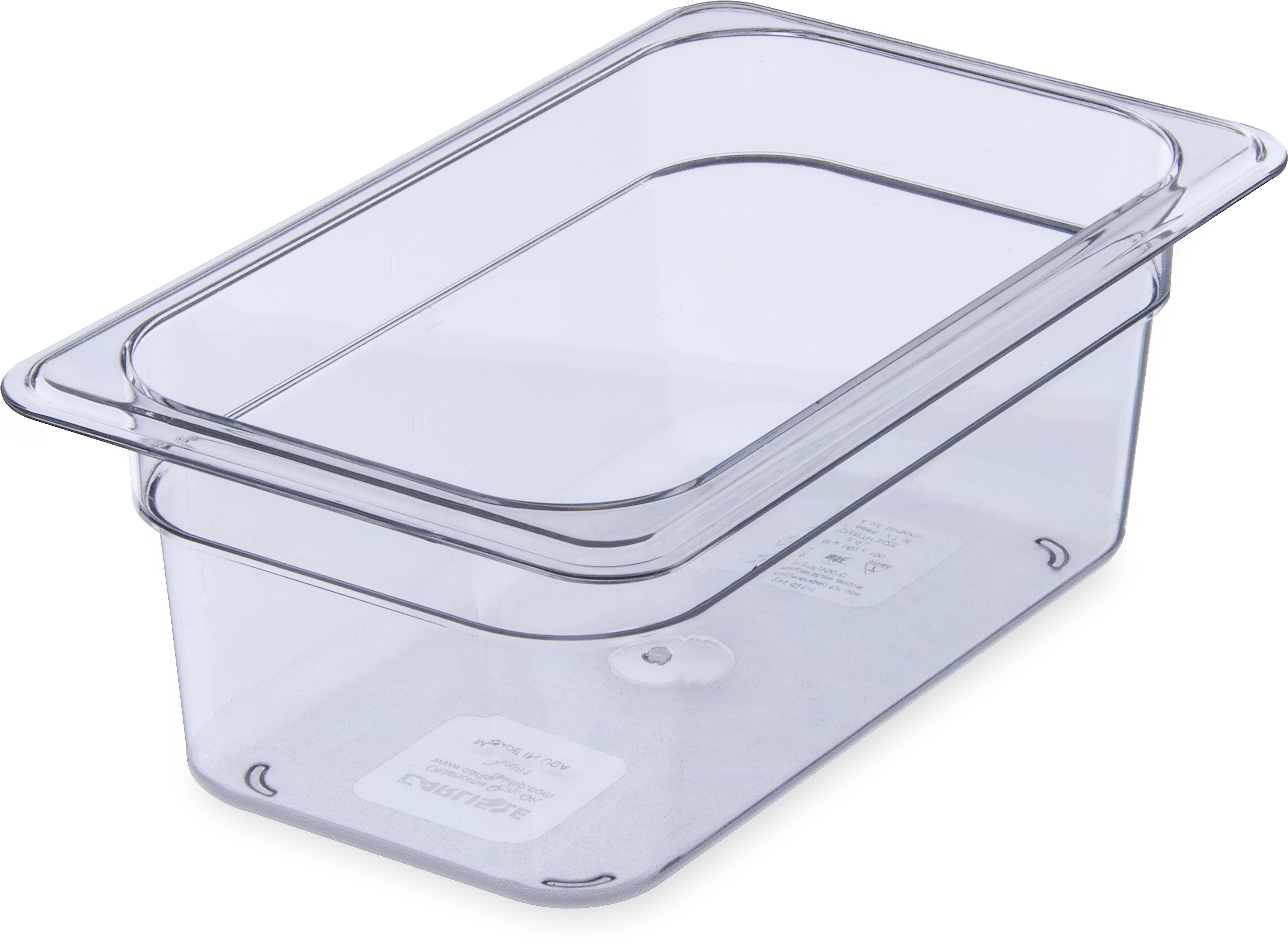 StorPlus Food Pan PC 4 DP 1/4 Size - Clear