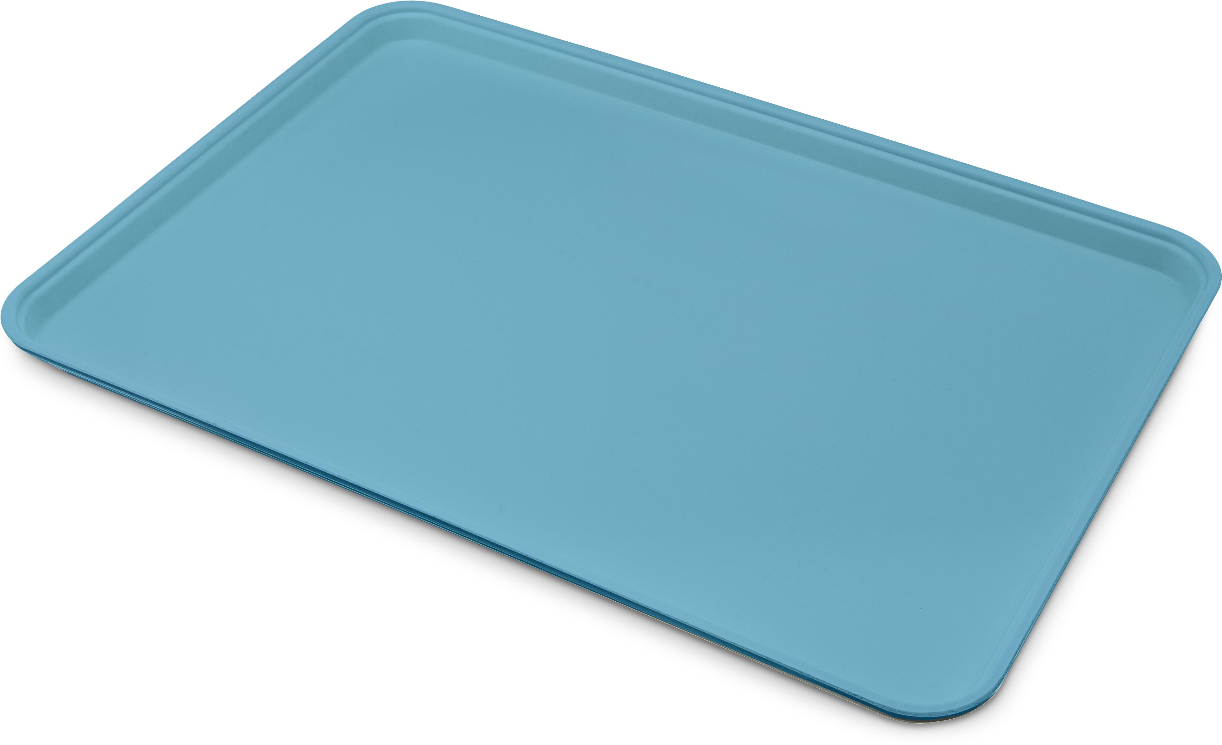 Glasteel Tray Display/Bakery 17.9 x 25.6 - Ice Blue