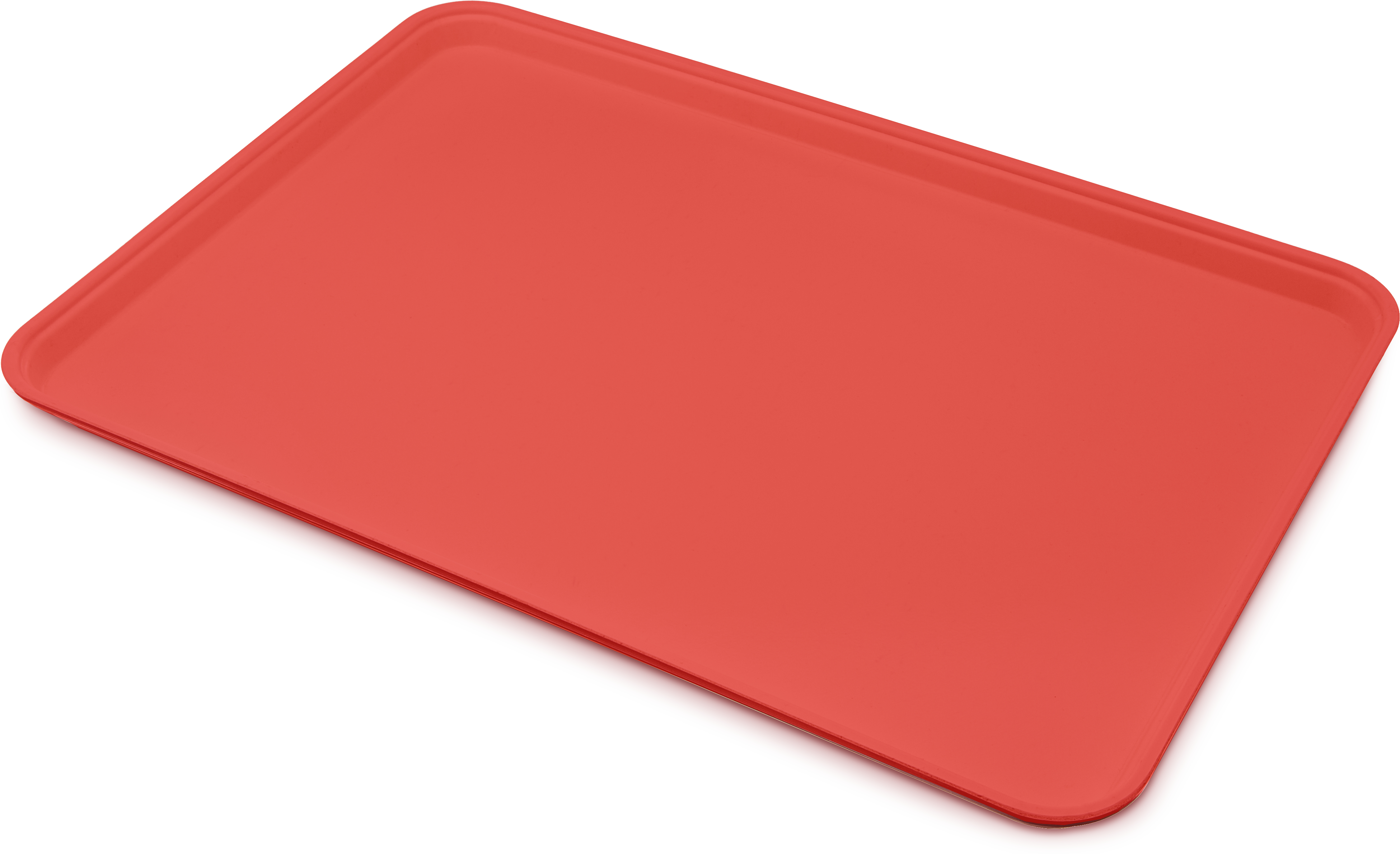 Glasteel Tray Display/Bakery 17.9 x 25.6 - Red