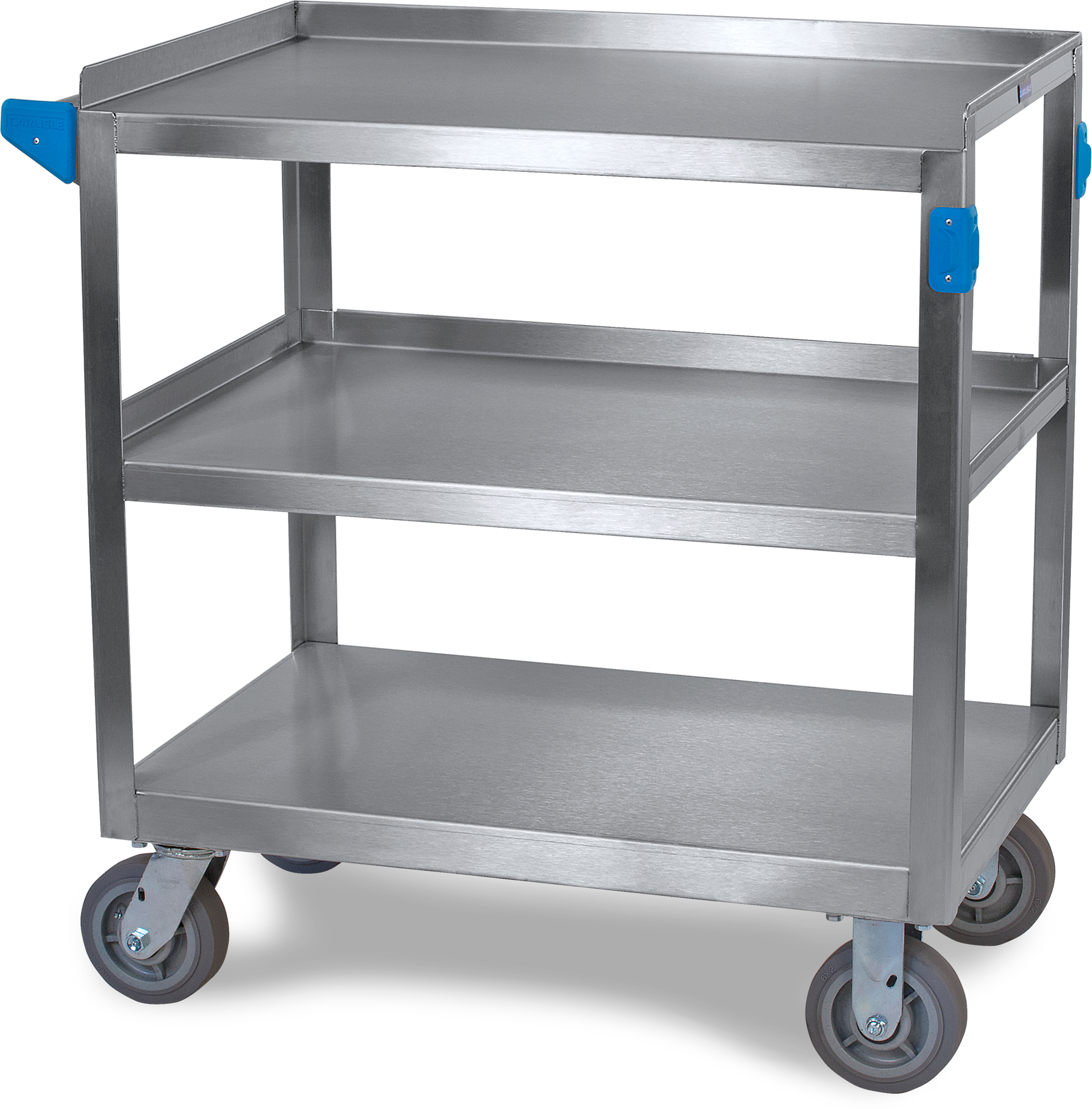3 Shelf Stainless Steel Utility Cart 700 lb Capacity 21 W x  33L - Stainless Steel
