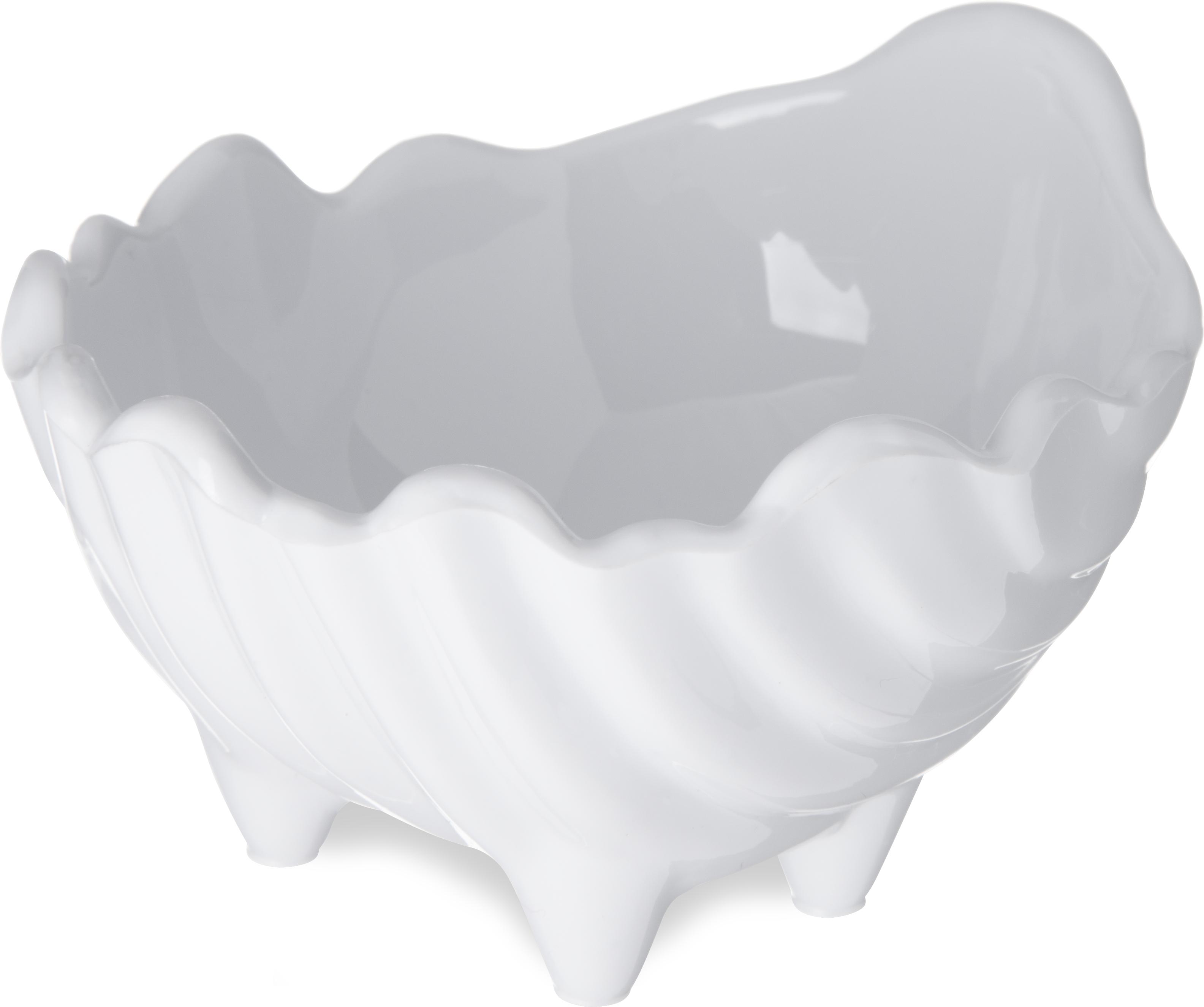 SAN Sea Shell Scalloped Sauce Cup Ramekin 2 oz - White