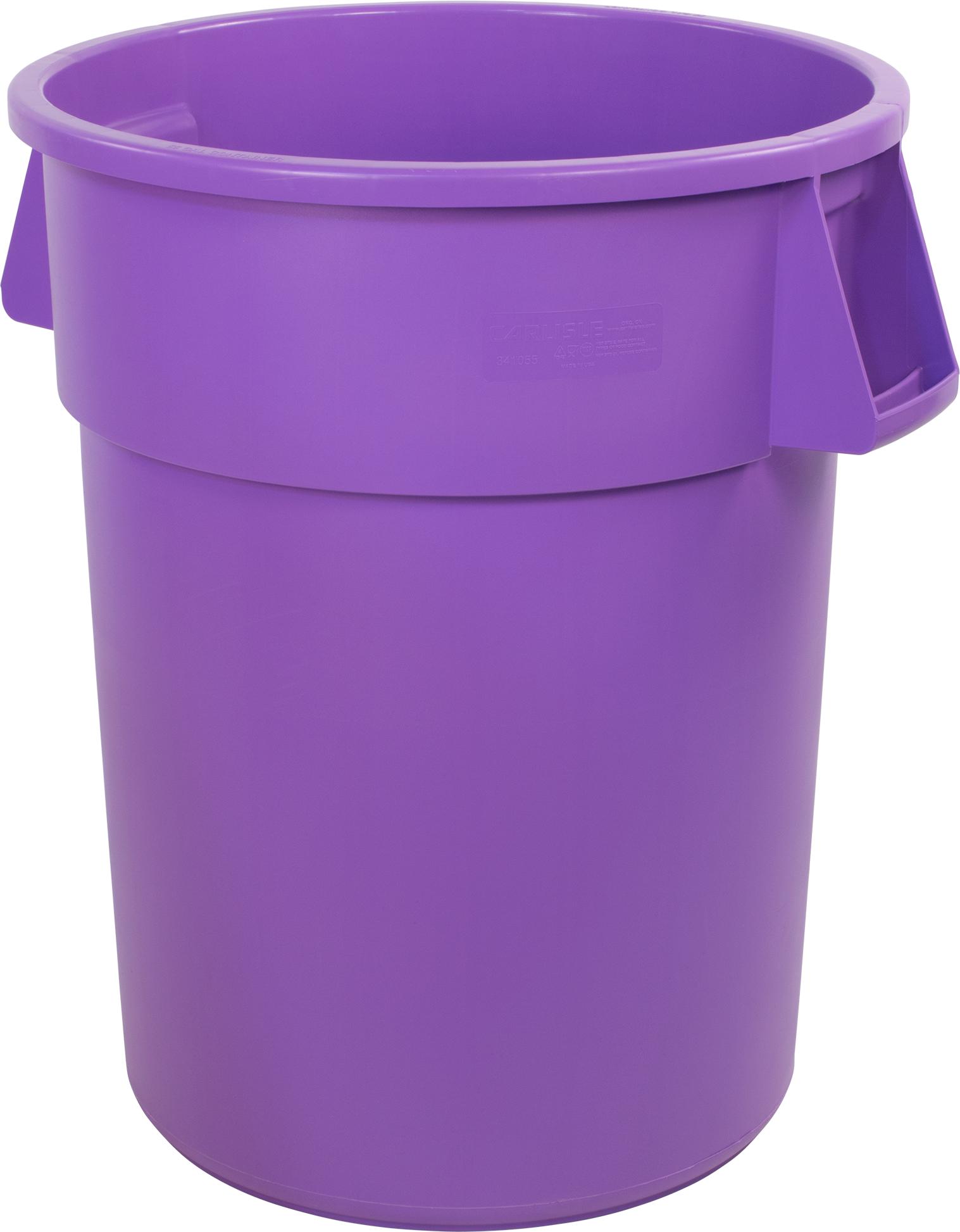 Bronco Round Waste Bin Trash Container 44 Gallon - Purple