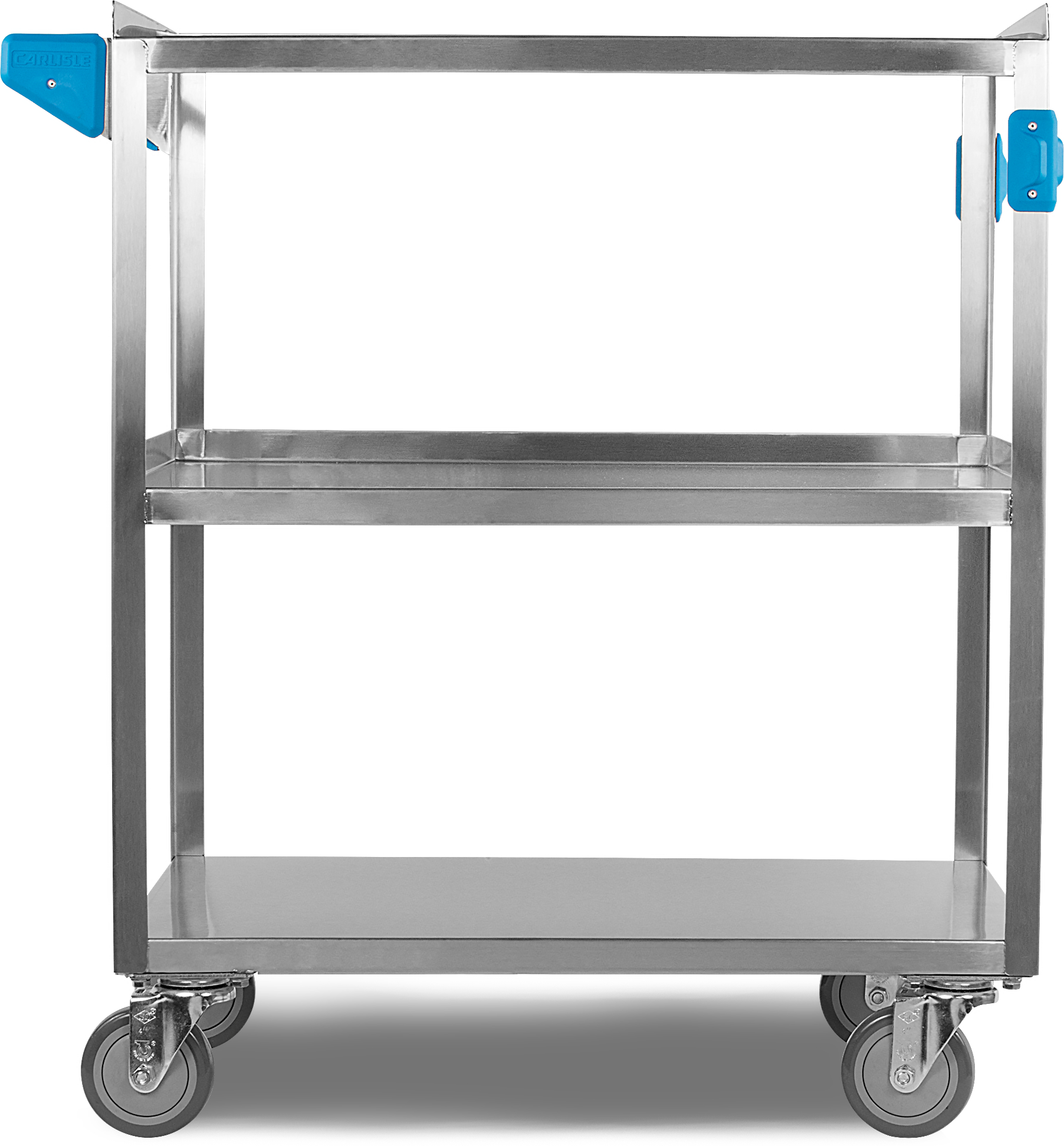 3 Shelf Stainless Steel Utility Cart 500 lb Capacity 18W x 27L - Stainless Steel