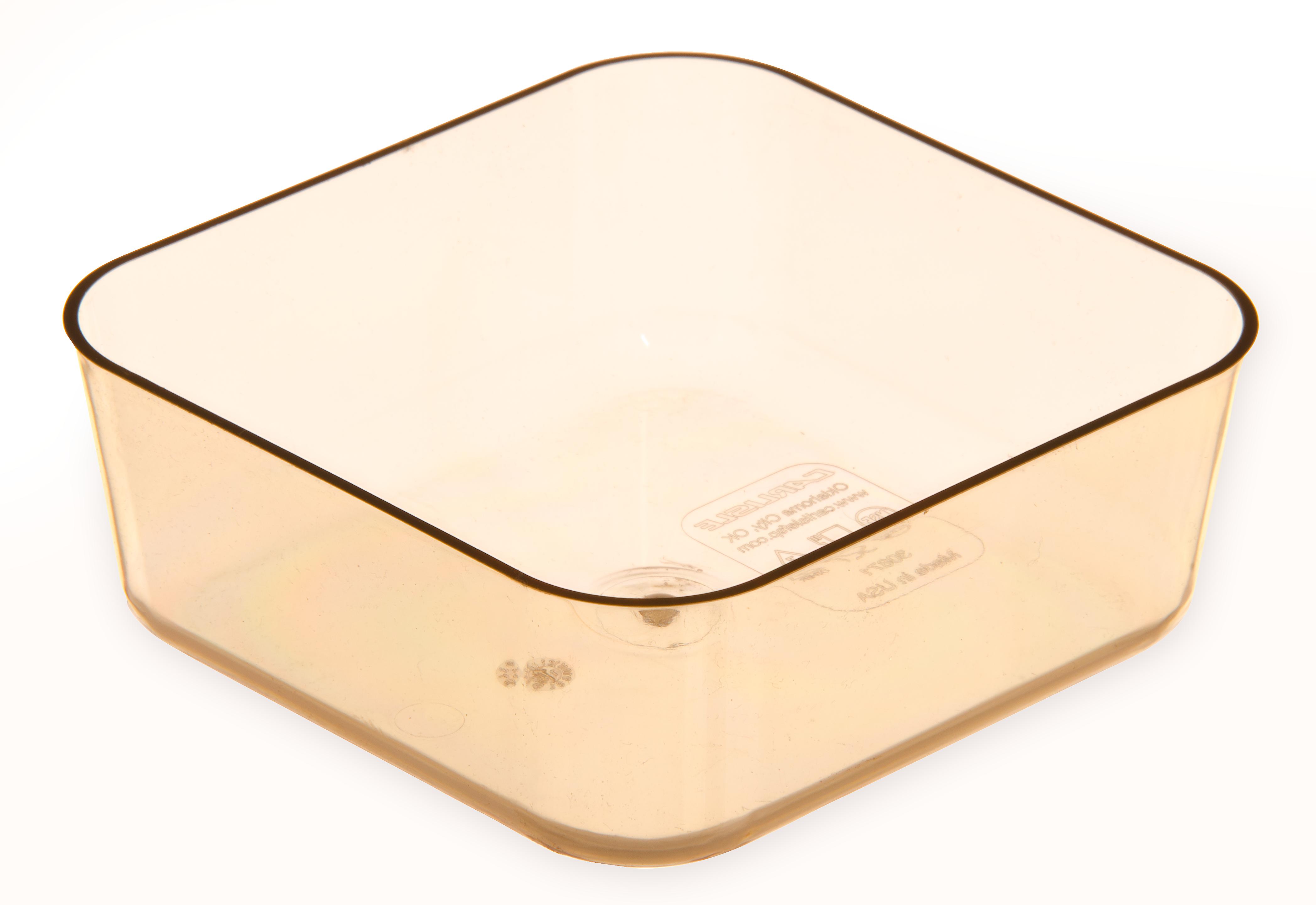 StorPlus Divider Food Pan HH 2.5 DP 1/6 Size - Amber