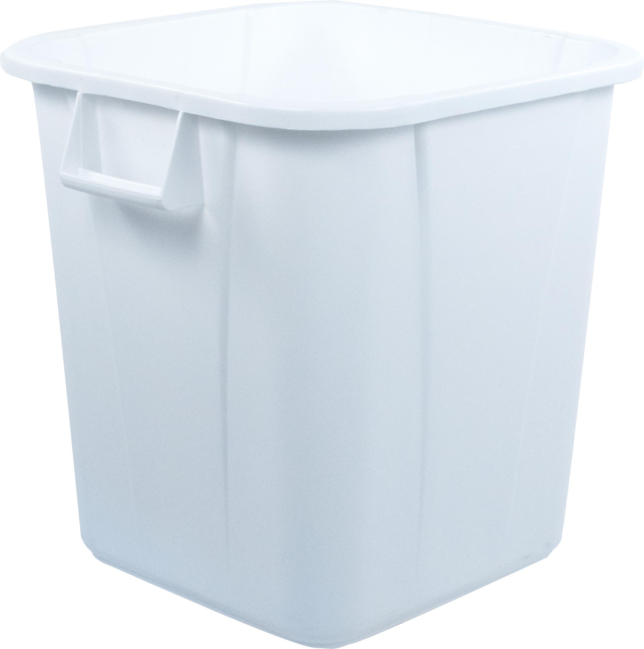 Bronco Square Waste Bin Trash Container 28 Gallon - White