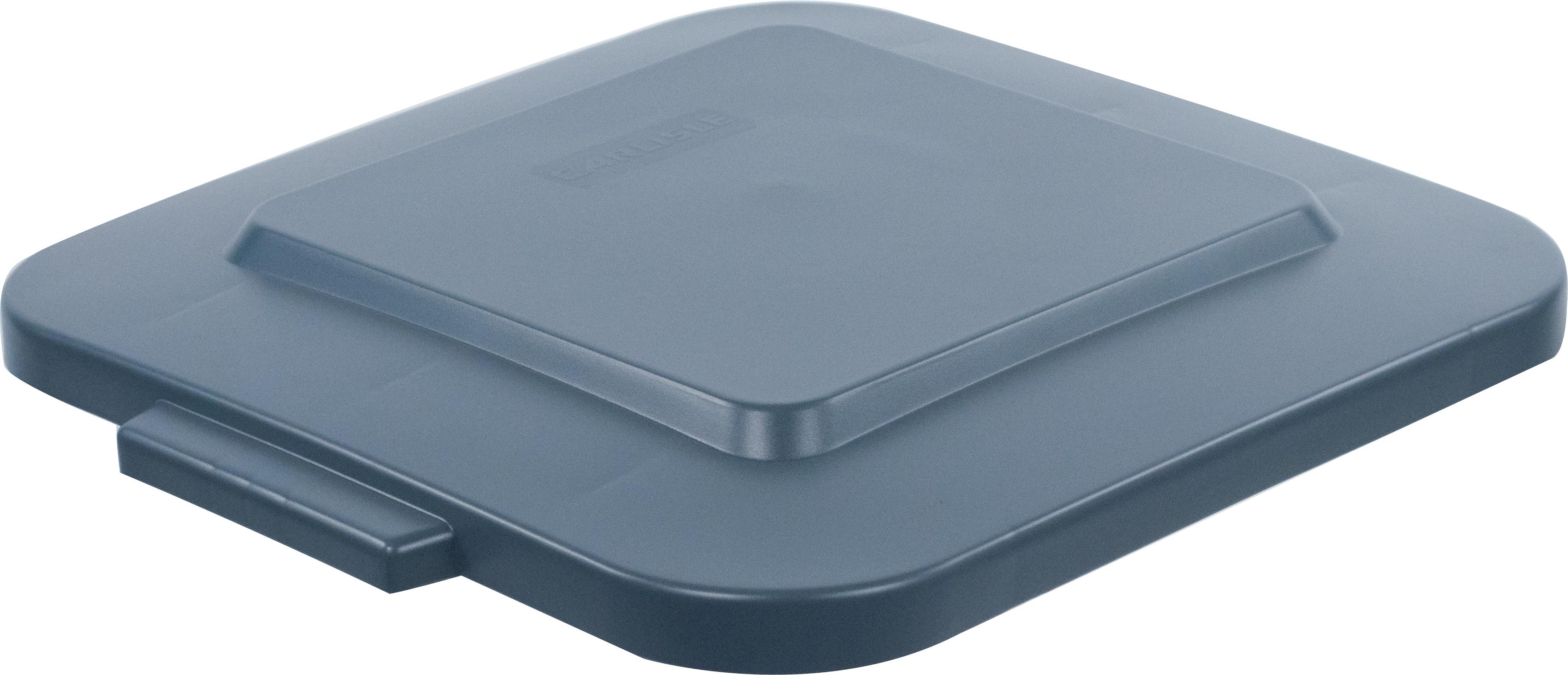 Bronco Square Waste Bin Trash Container Lid 28 Gallon - Gray