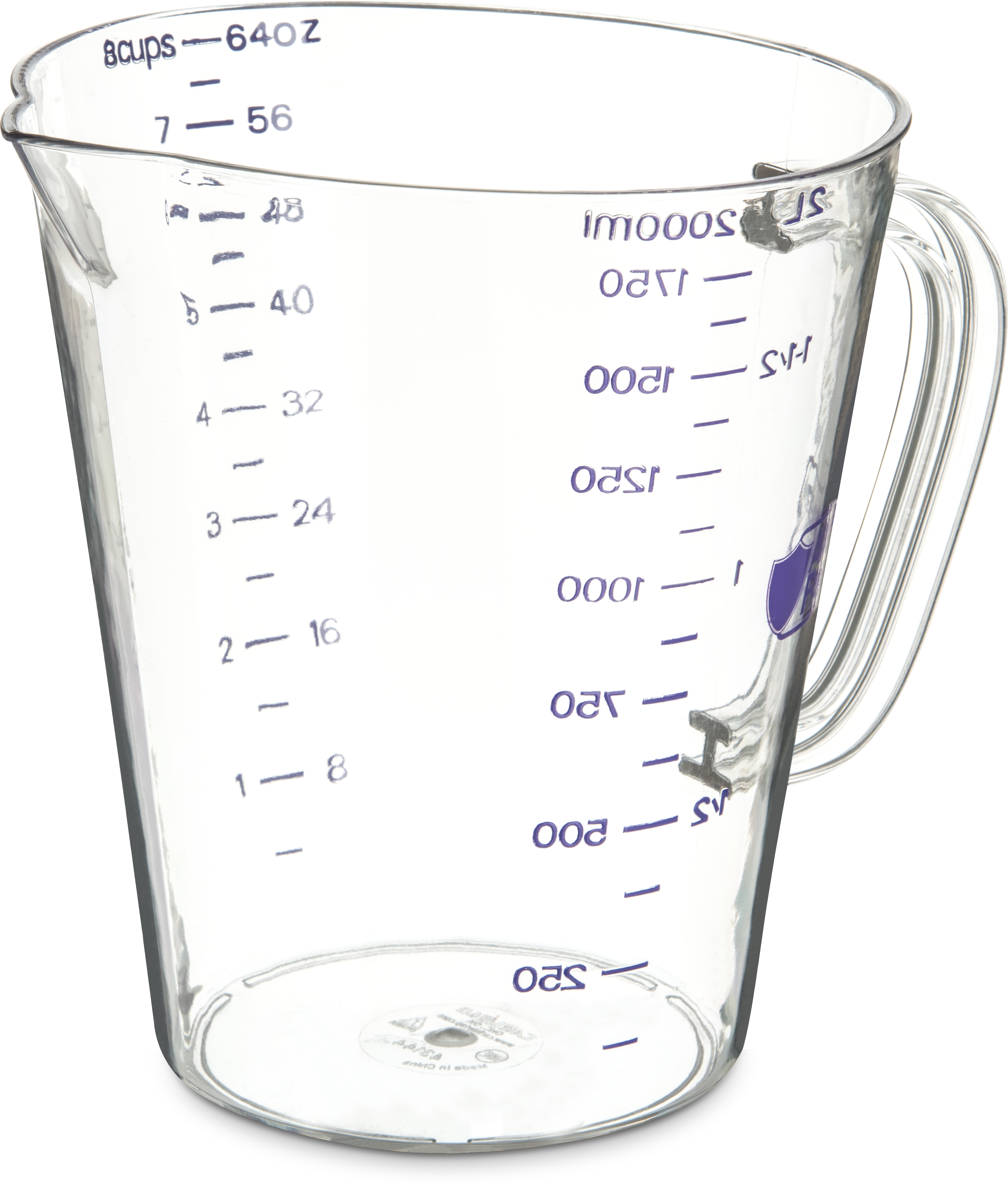 Commercial  Measuring Cup 1/2 gal - Purple