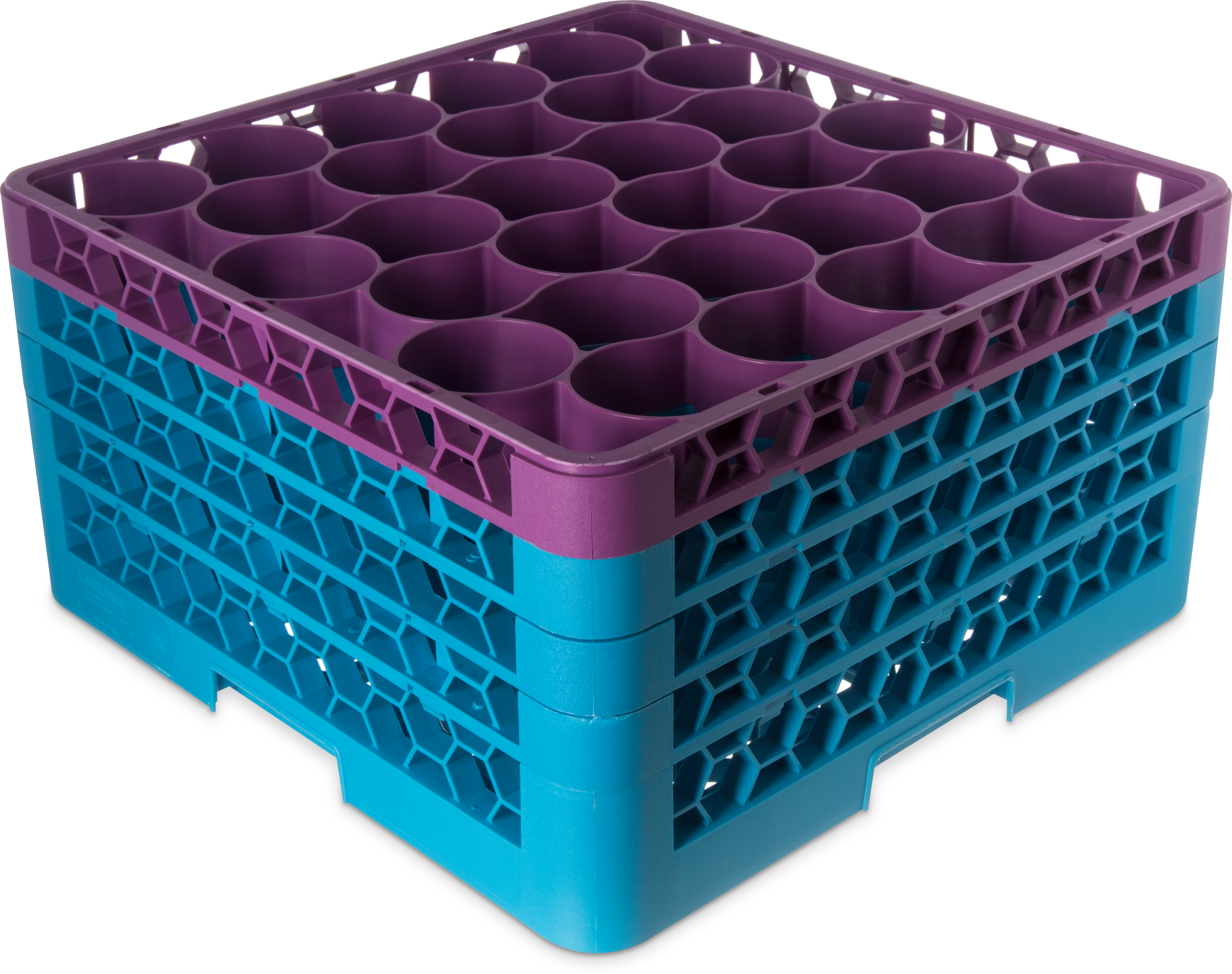Color-Coded Glass Rack with Three Extenders 30 Compartment (2pk) - Lavender-Carlisle Blue